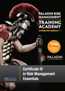 Certificate IV in Risk Management Essentials