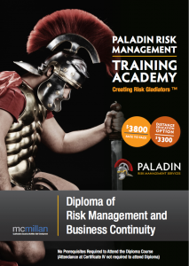 Diploma of Risk management and business continuity